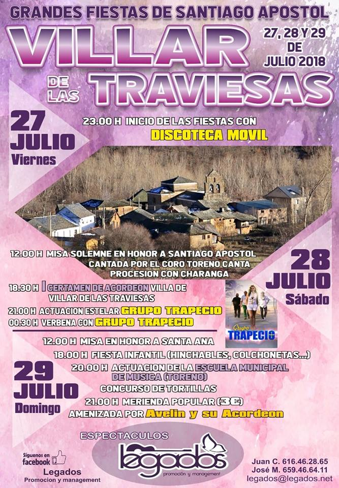 Fiestas en honor a Santiago Apostol en Villar de las Traviesas 1