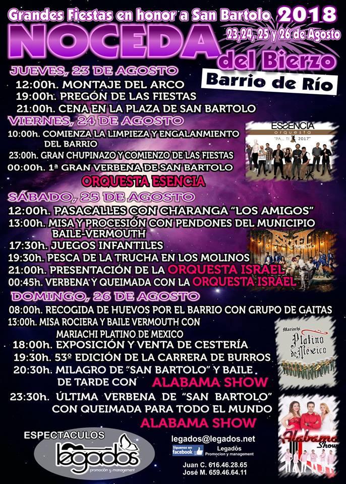 El barrio del Río de Noceda celebra San Bartolo del 23 al 26 de agosto 1