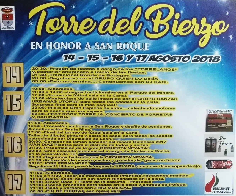 Fiestas de San Roque 2018 en Torre del Bierzo del 14 al 17 de agosto 1