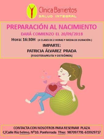 Clínica Barrientos organiza unas clases de preparación al nacimiento 1
