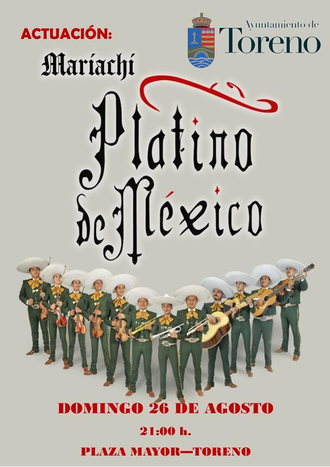 toreno organiza una fiesta mariachi para el domingo 26 de agosto 1