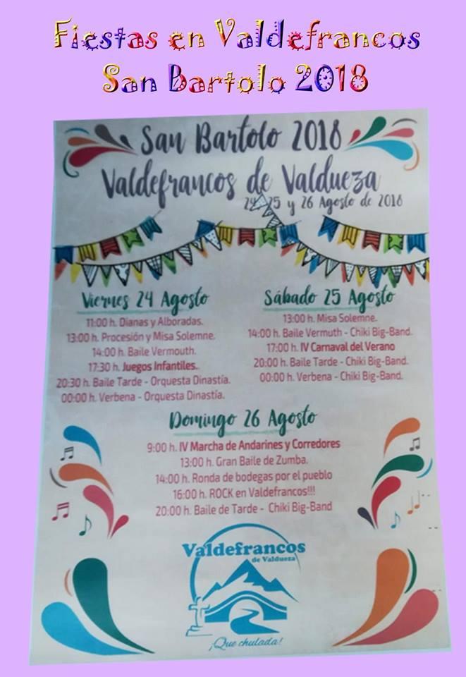 Fiestas en Valdefrancos de Valdueza 1