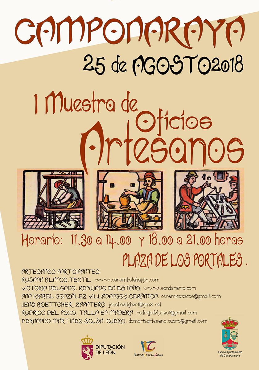 I Muestra de Oficios Artesanos en Camponaraya el próximo sábado 25 de agosto 1