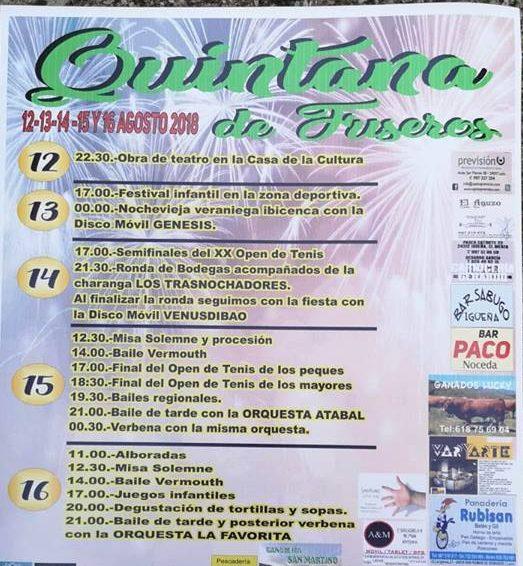 Grandes Fiestas en Quintana de Fuseros del 12 al 16 de agosto 1