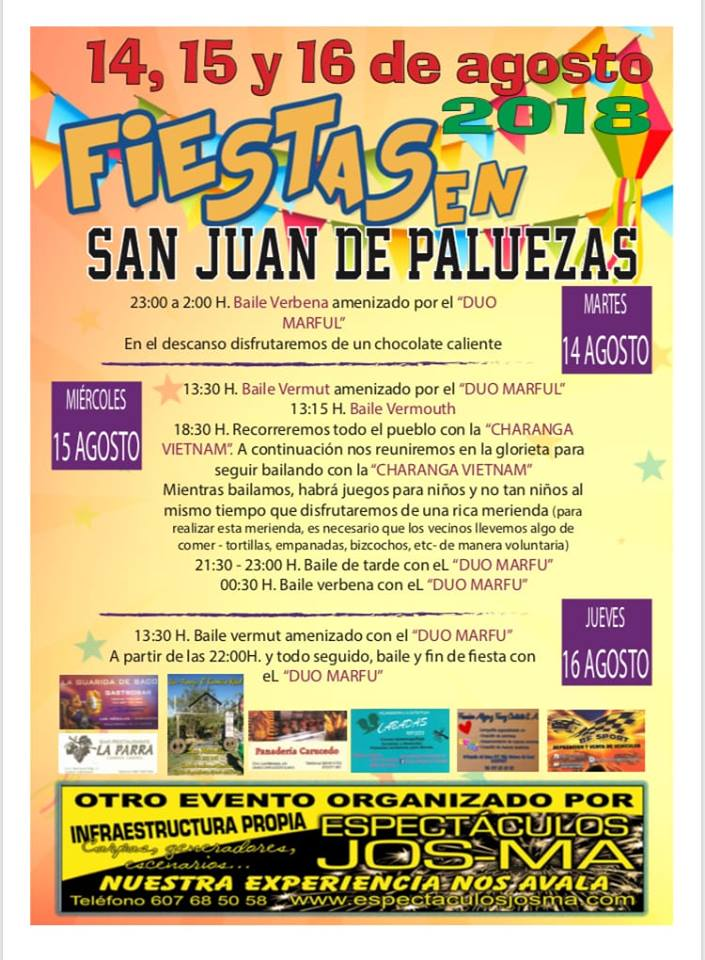Fiestas en San Juan de Paluezas 2018 1