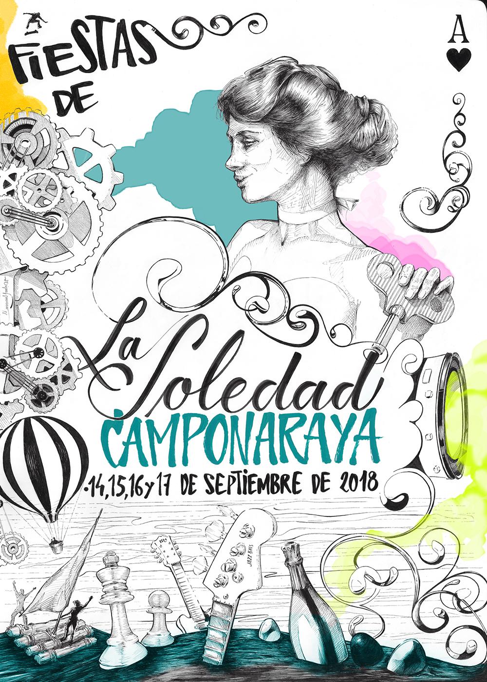 Programa de fiestas de la Soledad 2018 en Camponaraya 1