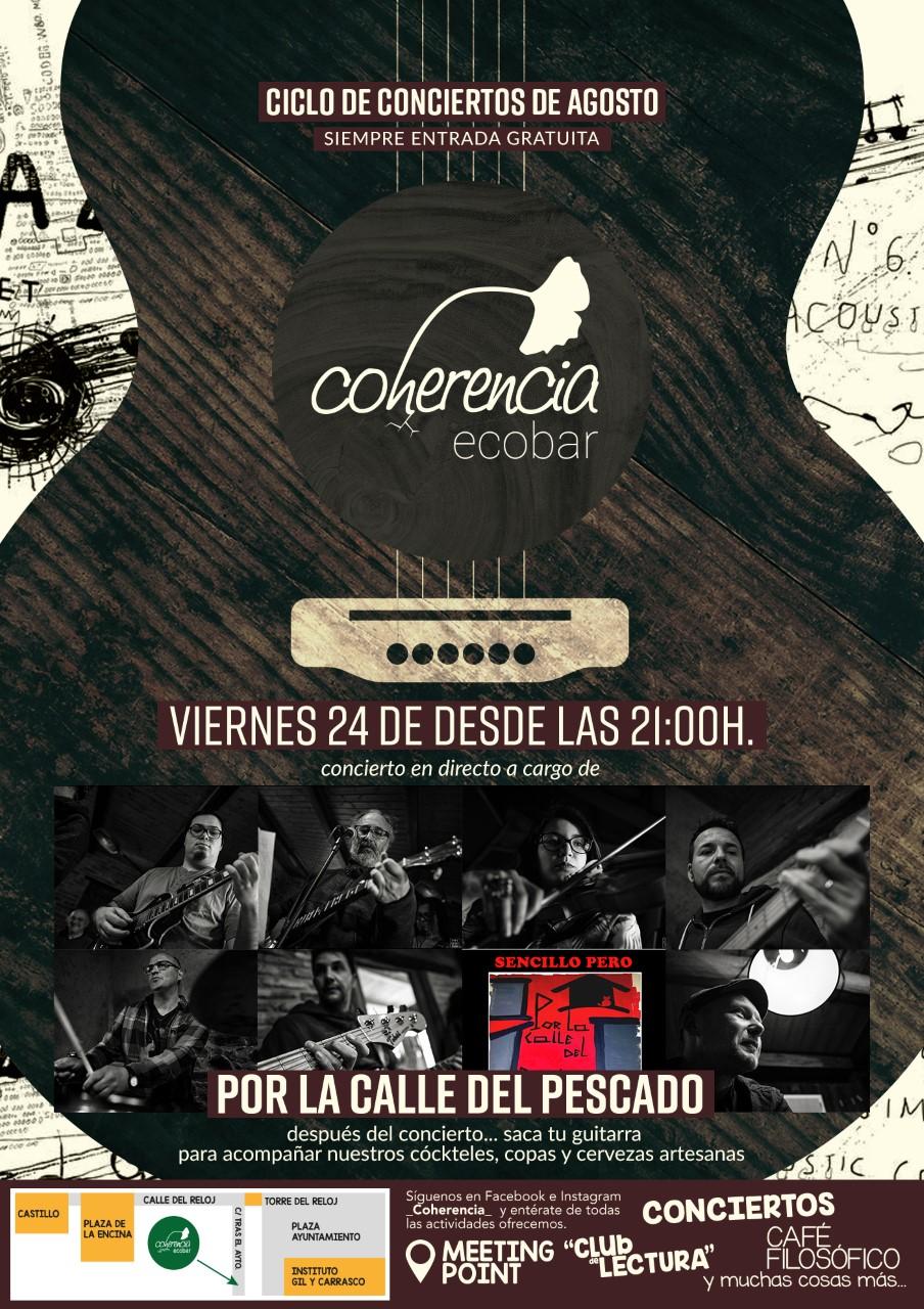 El viernes concierto de 'Por la calle del pescado' en Coherencia Bar 1