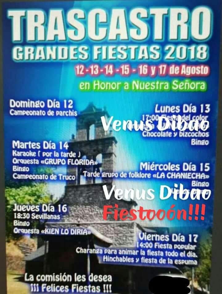 Fiestas en Trascastro 2018 1