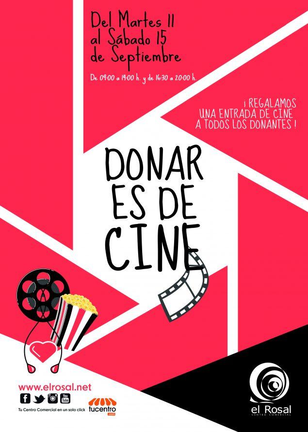 """Arranca una nueva edición de """"Donar es de Cine"""" en el Centro Comercial El Rosal 1"""