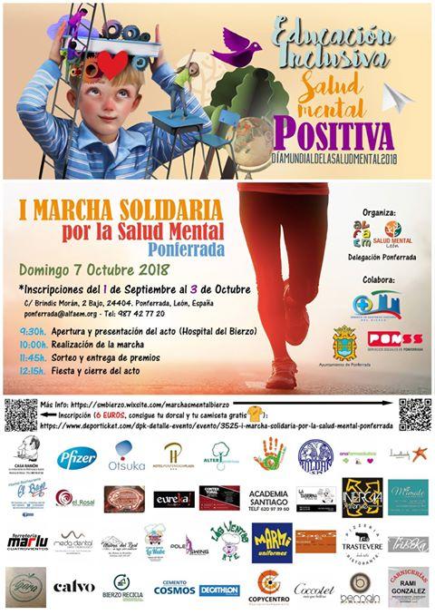 I Marcha Solidaria por la Salud Mental en Ponferrada 1