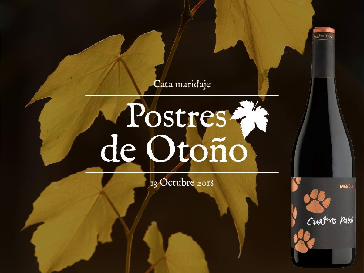La bodega Cuatro pasos organiza una cata de vinos y postres de otoño 1