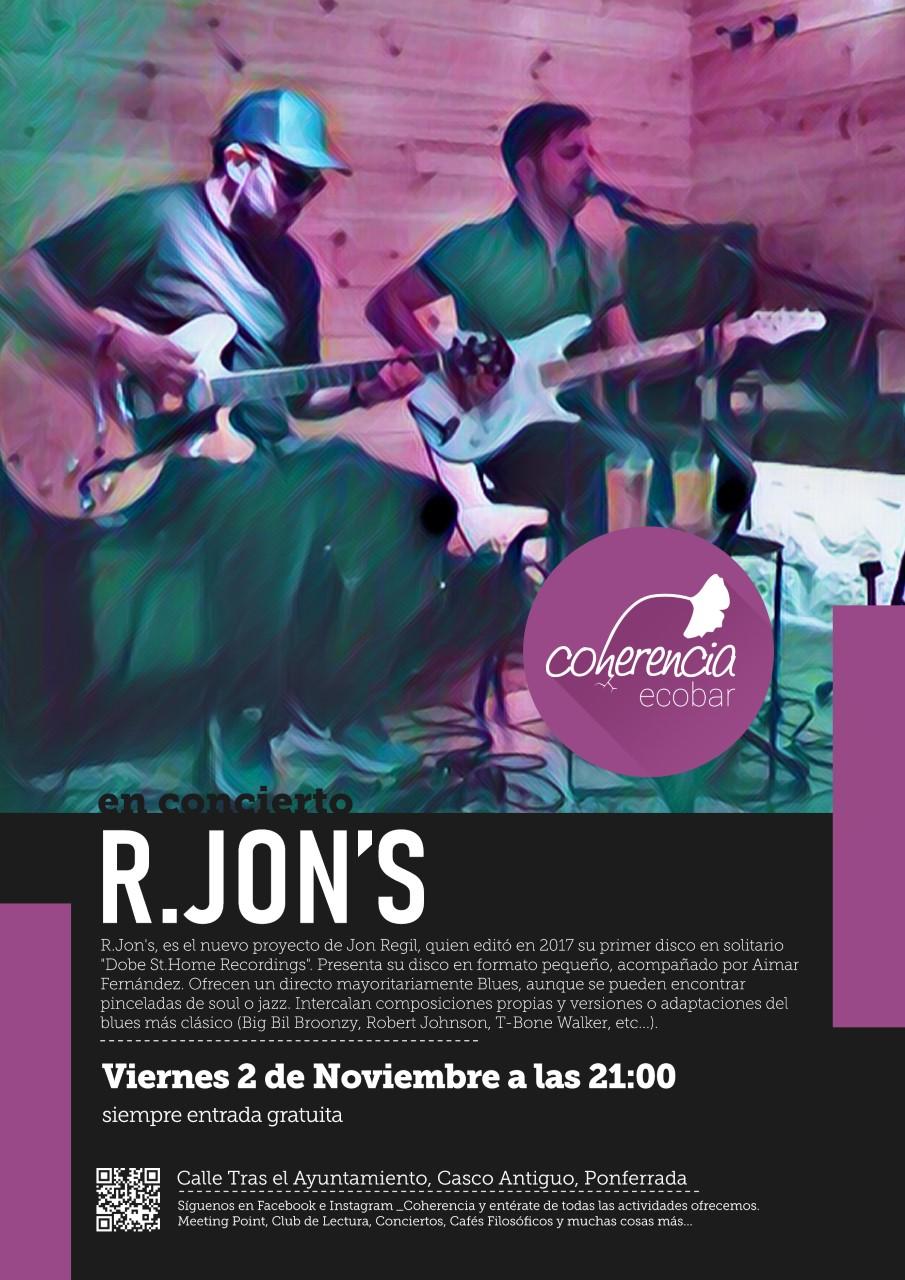 El Coherencia bar de Ponferrada presenta hoy viernes a R. Jons con su primer trabajo discográfico 1