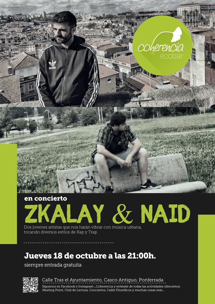 El jueves Coherencia Bar se mueve a ritmo de Rap & Trap con Zkalay & Naid 1