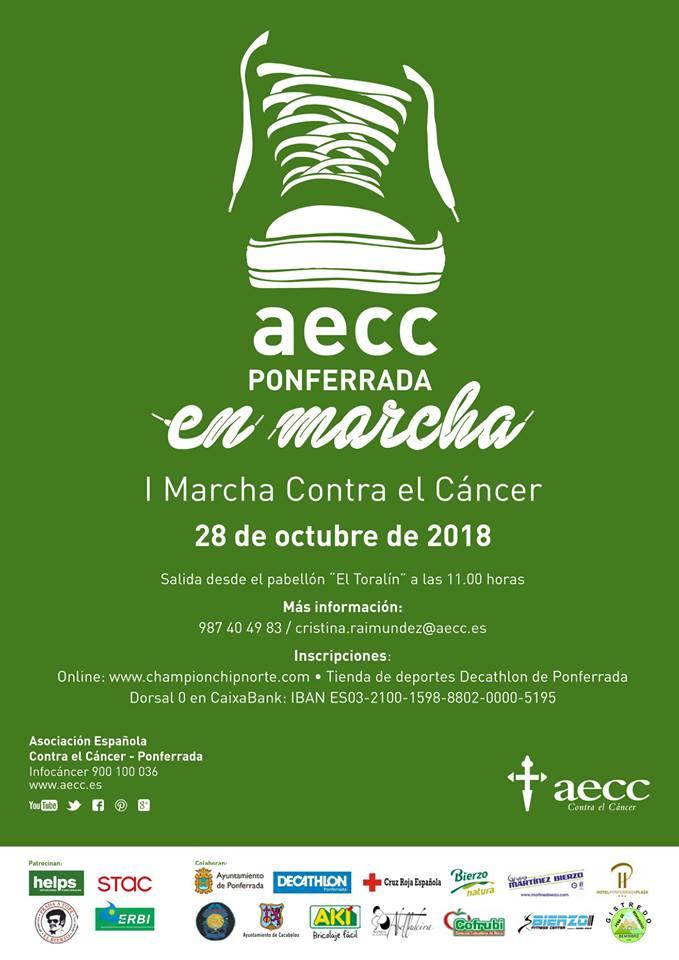 AECC Ponferrada organiza su I Marcha contra el cáncer 1