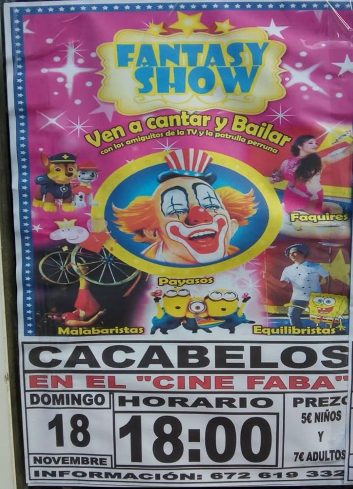 El Cine Faba de Cacabelos recibe este domingo un espectáculo circense 1