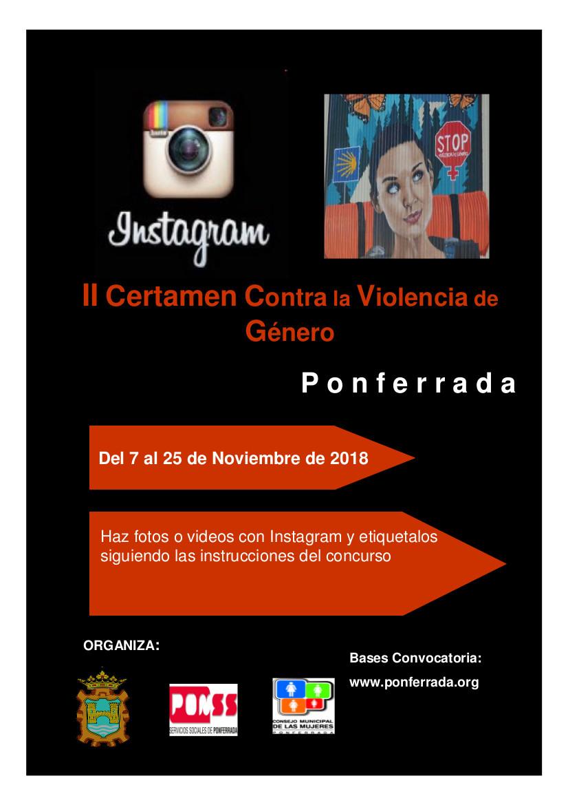 II edición del certamen contra la Violencia de Género de trabajos digitales en Instagram 1