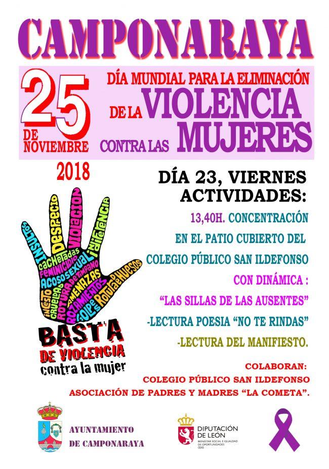 Camponaraya celebra el 'Día Mundial para la eliminación de la violencia contra las mujeres' 1