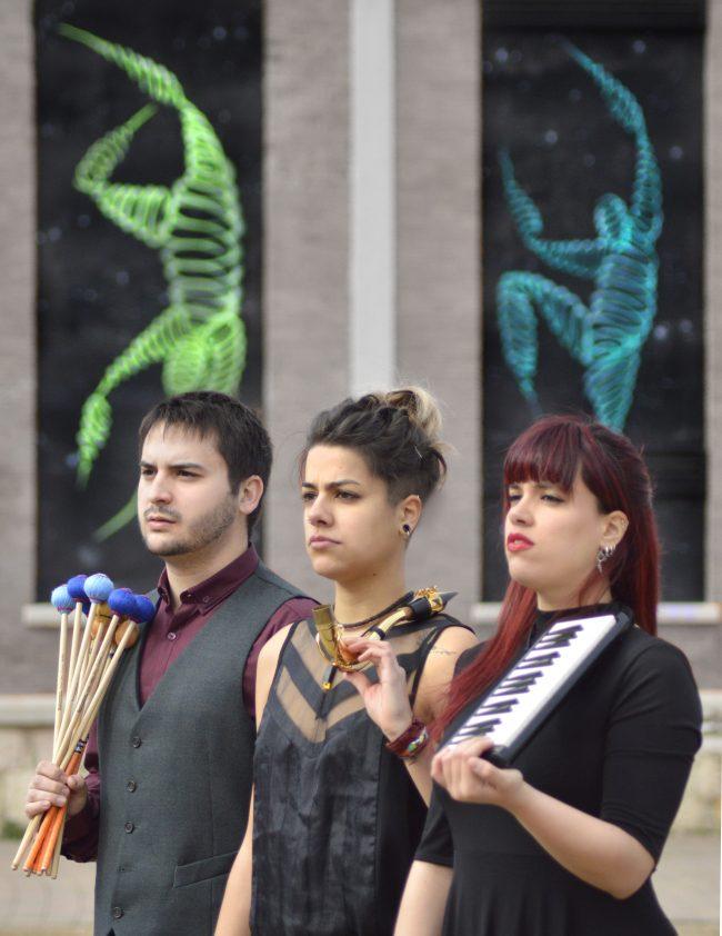Un concierto del trío Nuntempa Ensemble, de saxo, percusión y piano, abre en el Conservatorio la temporada de conciertos de Juventudes Musicales 1