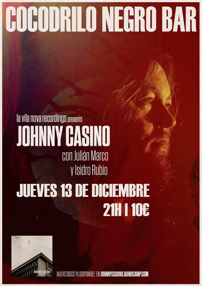 Concierto de Johnny Casino el jueves en el Cocodrilo Negro 1