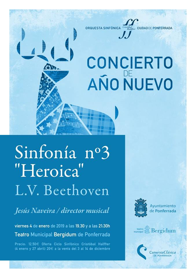 """Concierto de Año Nuevo Sinfonía n.º 3, """"Heroica"""", de Ludwig van Beethoven 1"""
