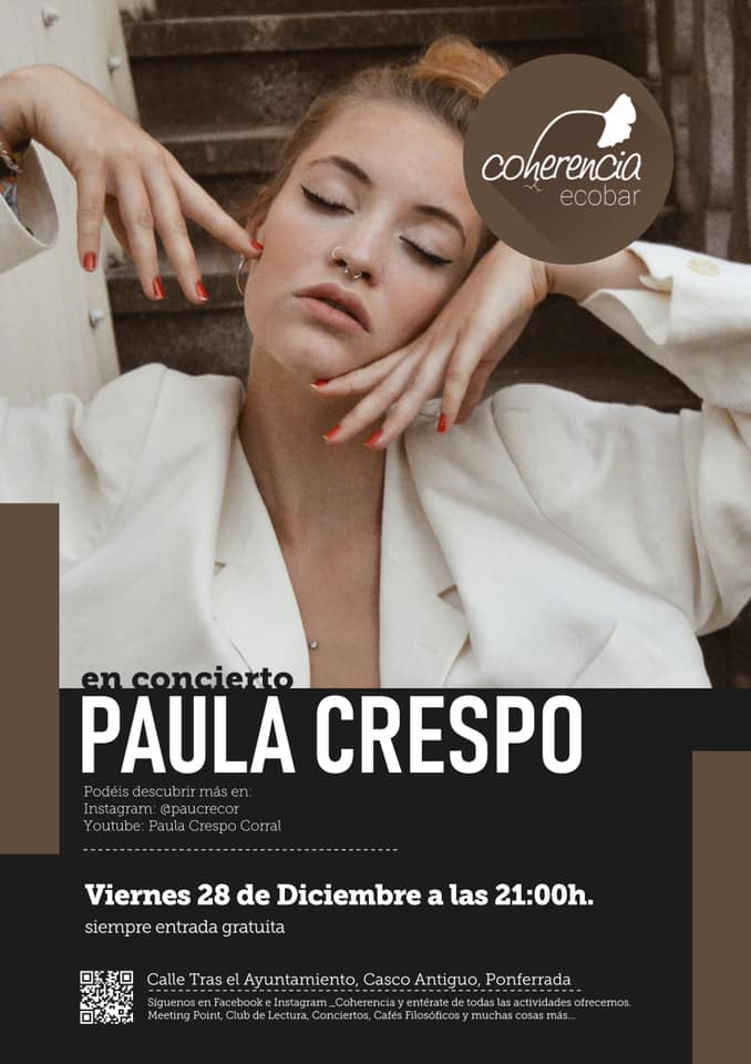 La voz de la berciana Paula Crespo el viernes en Coherencia Bar 1
