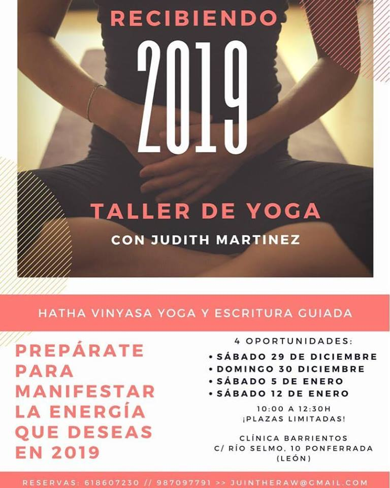 Clínica Barrientos te plantea recibir 2019 con un taller de Yoga 1