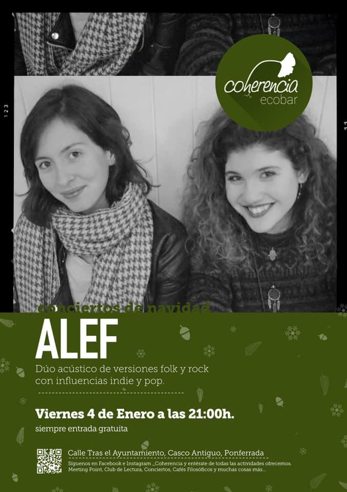 La música de las bercianas Alef abre la temporada musical de Coherencia Bar 1