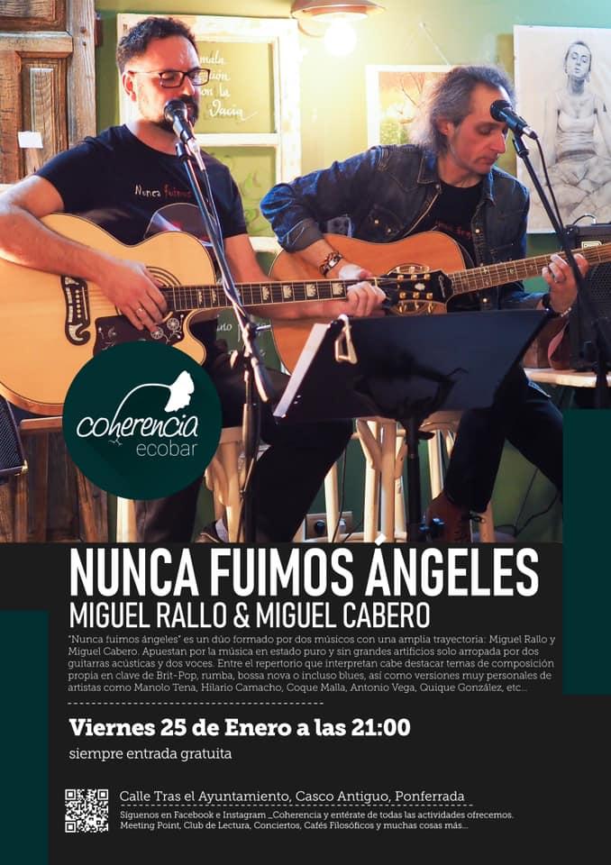 Concierto de 'Nunca fuimos ángeles' (Miguel Rallo y Miguel Cabero) en Coherencia Bar 1