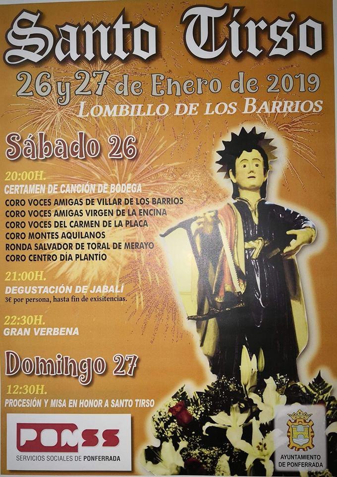 Fiestas de Santo Tirso en Lombillo de los Barrios 1