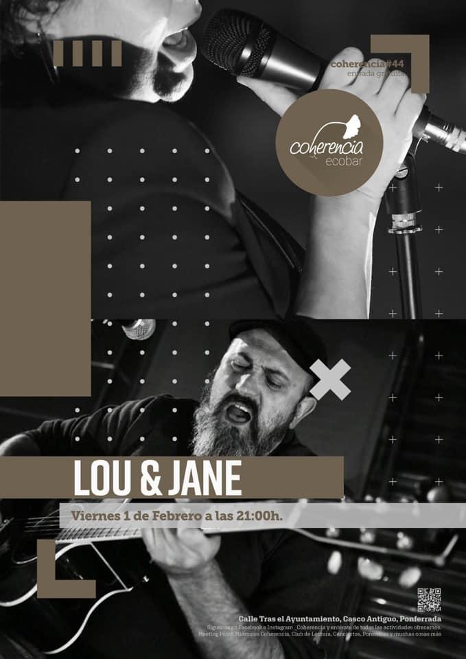 Concierto de Lou & Jane para la tarde del viernes en Coherencia Ecobar 1