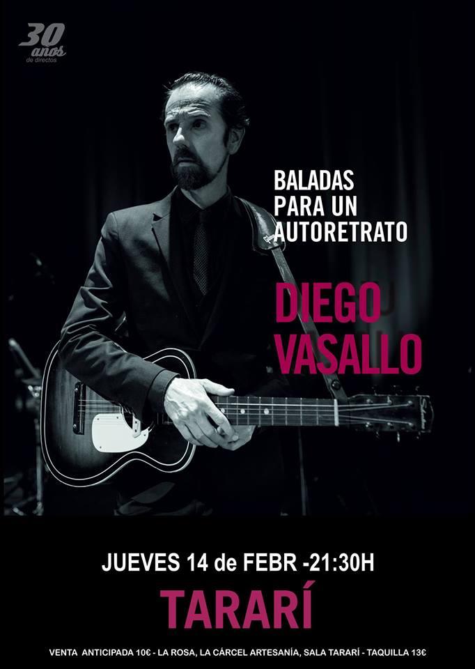 Diego Vasallo actuará el jueves 14 de febrero en la Sala tararí de Ponferrada 1