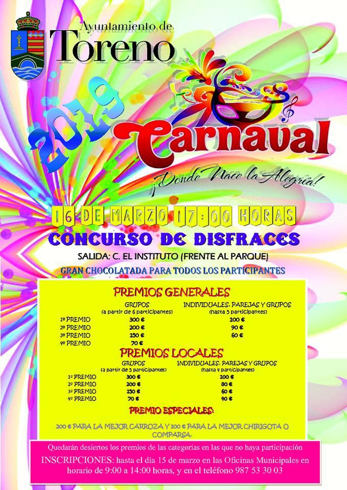 Toreno anuncia su Carnaval 2019 1
