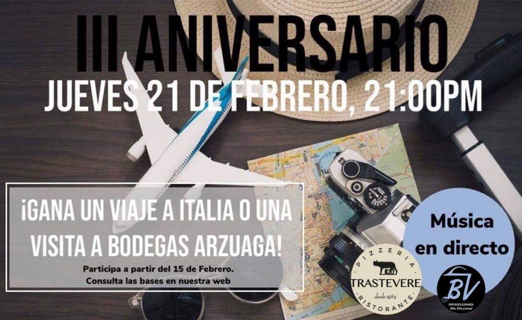 El nuevo Trastevere celebra su III cumpleaños en las nuevas instalaciones 1