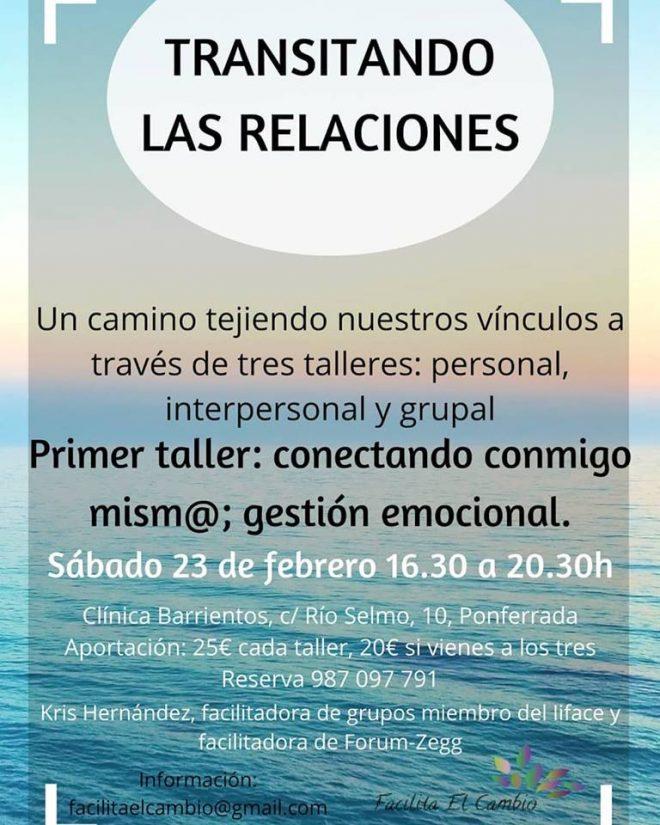 Transitando las Relaciones: Gestión Emocional-Primer Taller 1