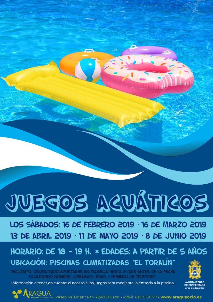 Juegos acuáticos en las Piscinas Climatizadas El Toralín. Feb/Jun 2019 1