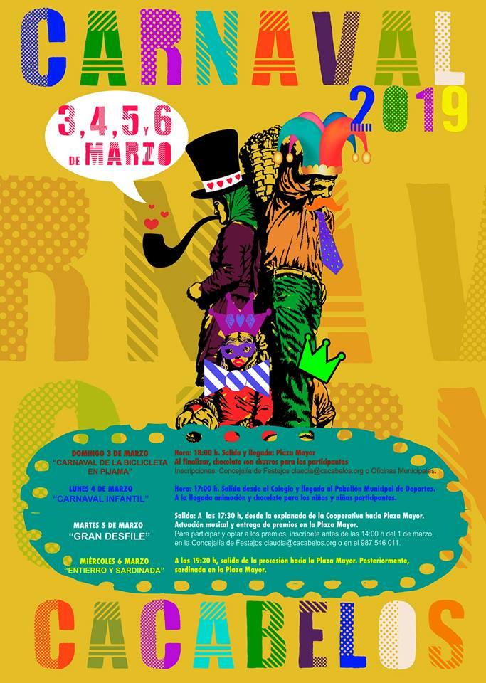 Carnaval 2019 en Cacabelos, el 'carnaval de la bici en pijama', actividad destacada 1