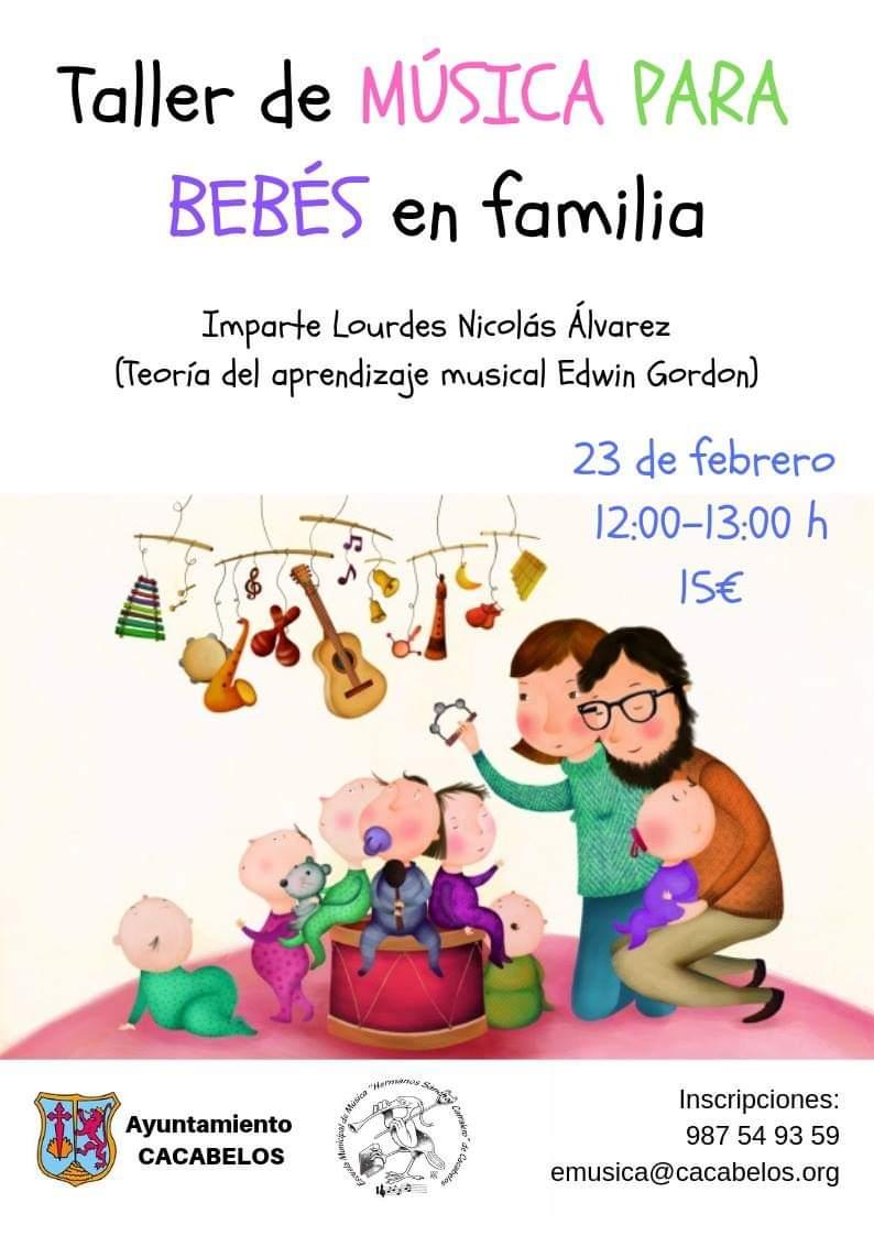 Cacabelos organiza un taller de música para bebés en familia 1