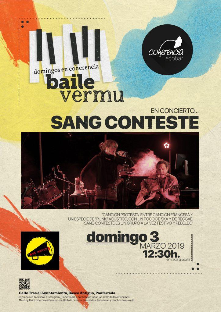 El Coherencia Bar te espera el domingo en sesión vermouth con el directo de 'Sang Conteste' 1