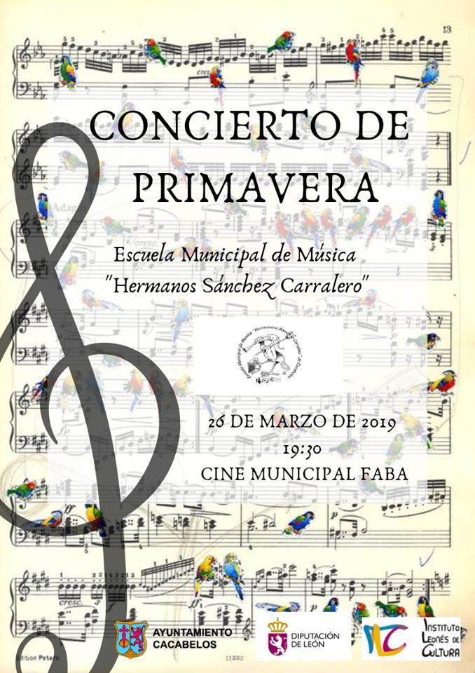 La escuela de música Sánchez Carralero de Cacabelos organiza un concierto para recibir la primavera 1