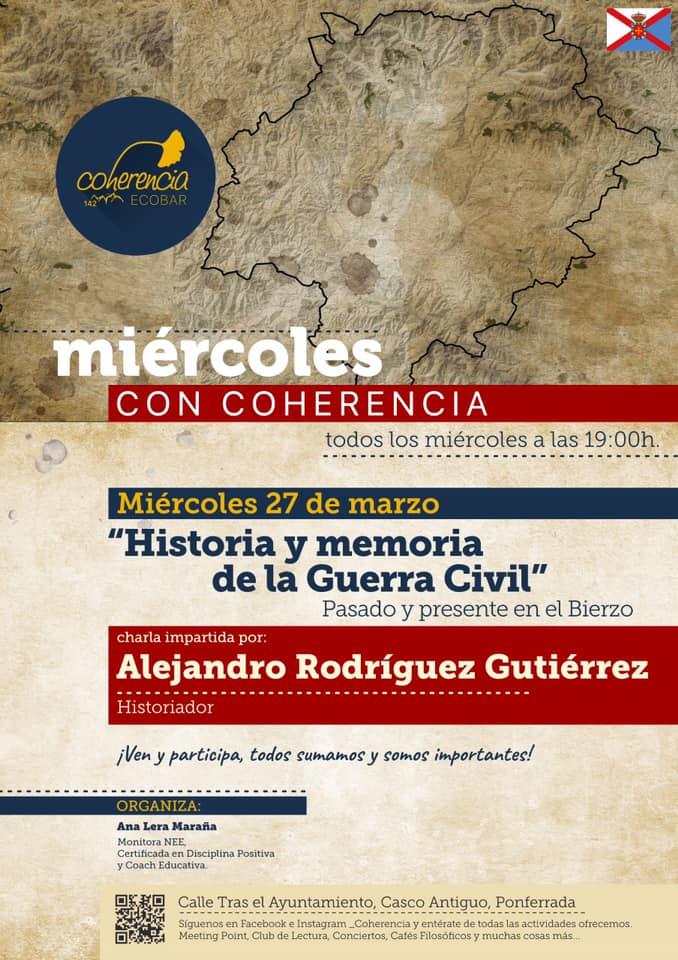 """Miércoles con Coherencia: """"Historia y memoria de la guerra civil"""" con Alejandro Rodríguez, historiador 1"""