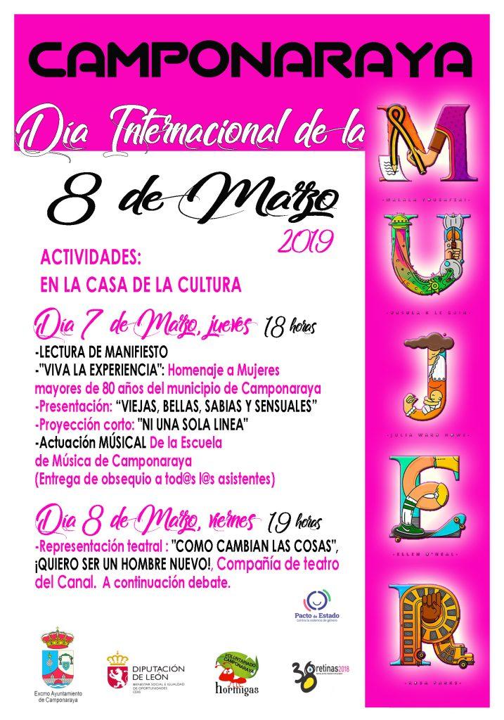 Homenaje, música, teatro, debate y cine para celebrar el 8M en Camponaraya 1