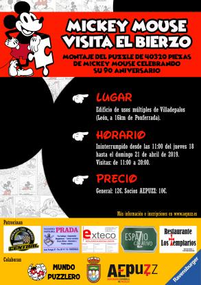 Exposición de puzzles: MICKEY MOUSE VISITA EL BIERZO (18-21 ABRIL 2019) 1