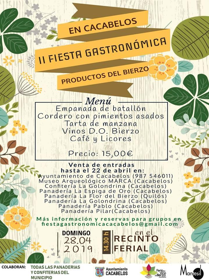 Llega la II Fiesta gastronómica Productos del Bierzo a Cacabelos 1