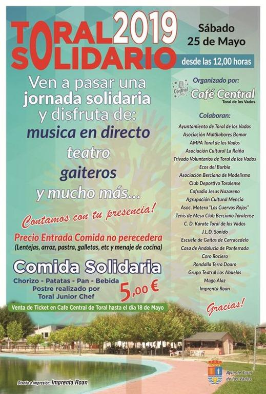 jornada 'Toral solidario' este sábado 1