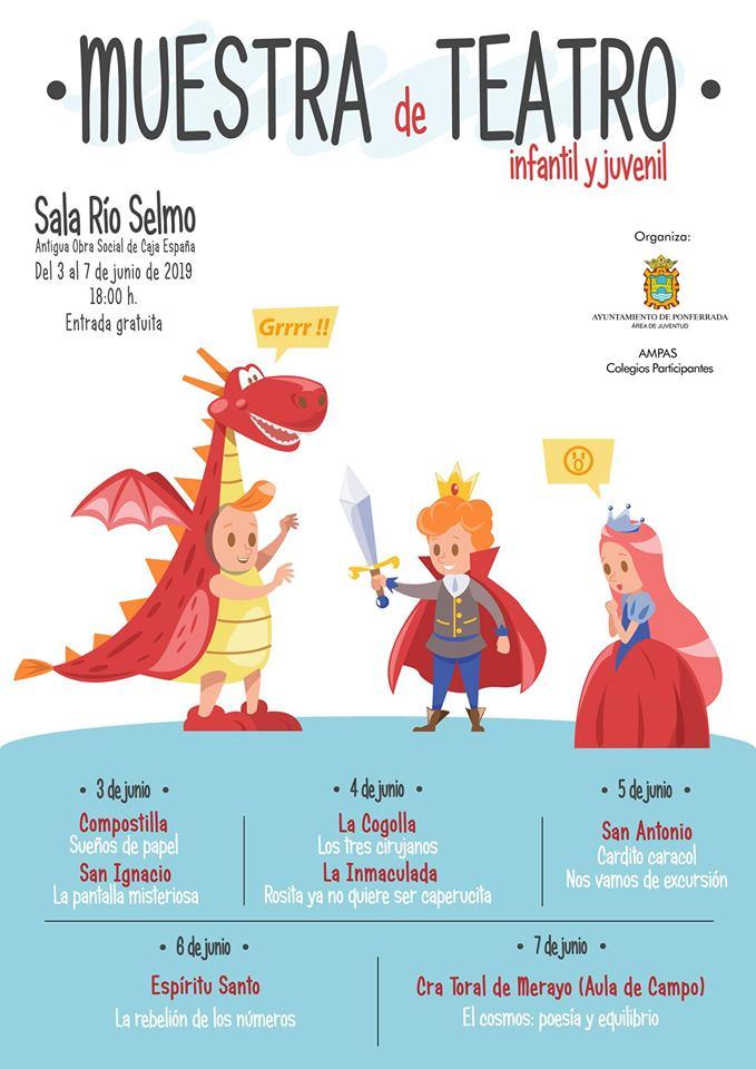 La Sala Río Selmo recibe la Muestra de teatro infantil y juvenil 1