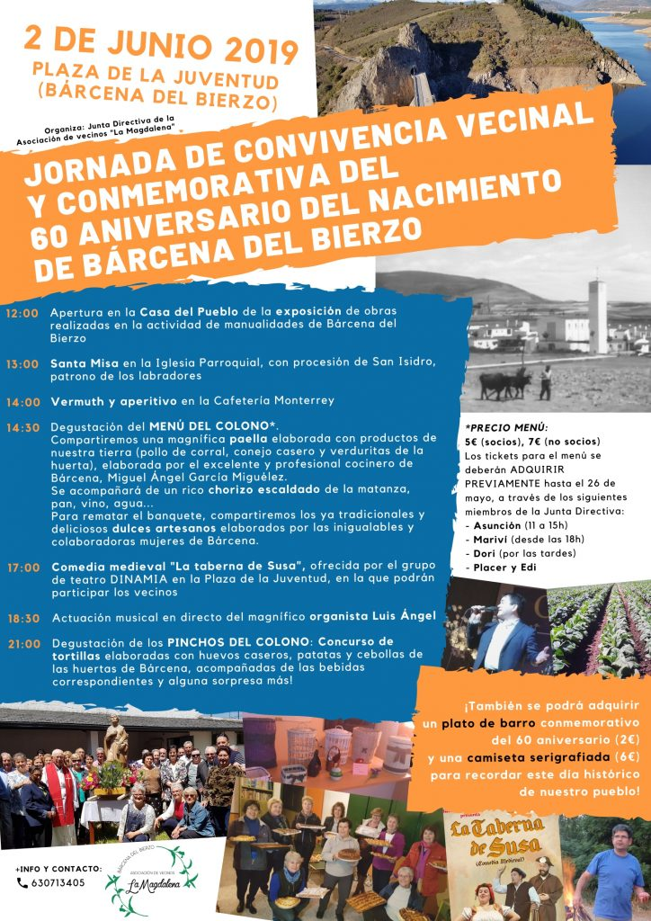 Jornada conmemorativa y de convivencia vecinal para celebrar el 60 aniversario de Bárcena del Bierzo 1