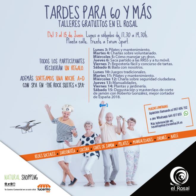"""Diversión, concursos y premios para nuestros mayores, en las """"Tardes para 60 y más"""" de El Rosal 1"""