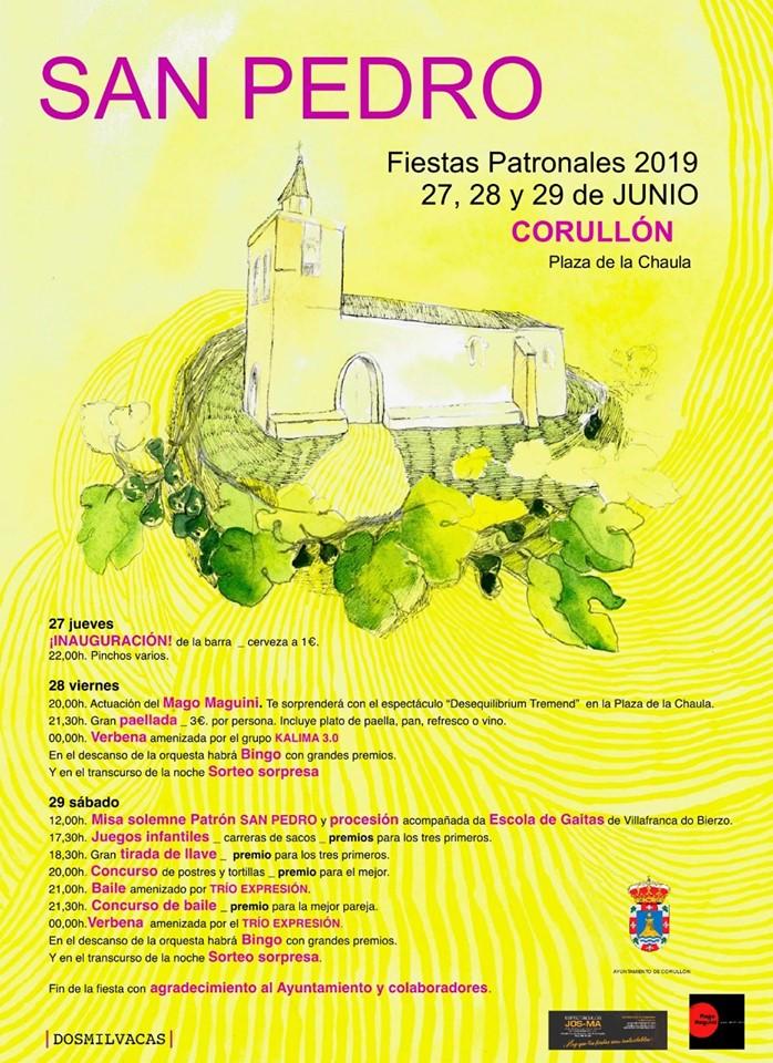 Fiestas de San Pedro en Corullón. 27, 28 y 29 de junio 2019 1