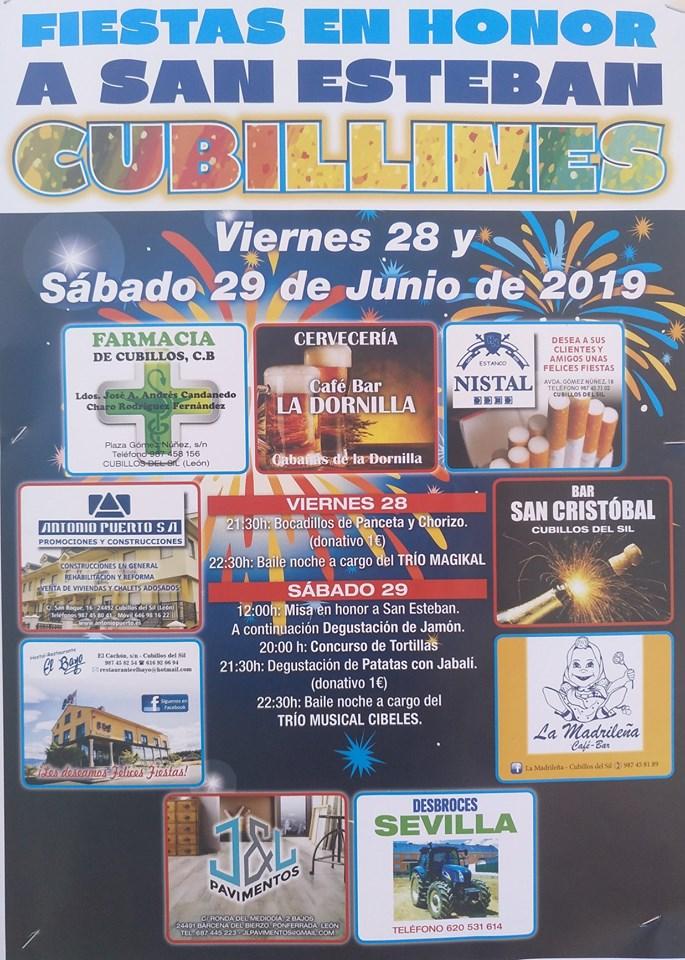 Fiestas de San Esteban en Cubillines 1
