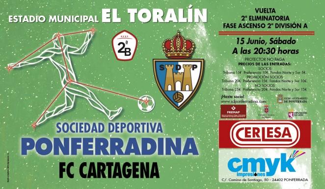 SD Ponferradina Vs FC Cartagena, horario y precios del partido de vuelta del Playoff 1